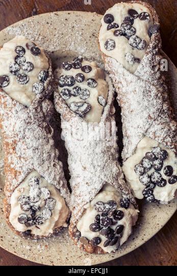 Sicilian cannoli - Stock Image