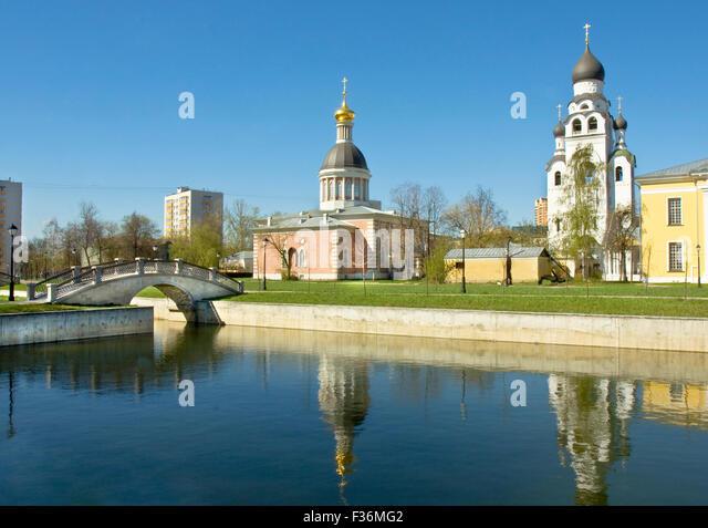 Architecture ensemble Rogozhskaya sloboda, Moscow - Stock Image