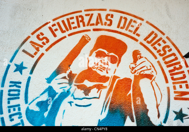 Colombia, Cundinamarca Department, Bogota, downtown district, mural - Stock Image