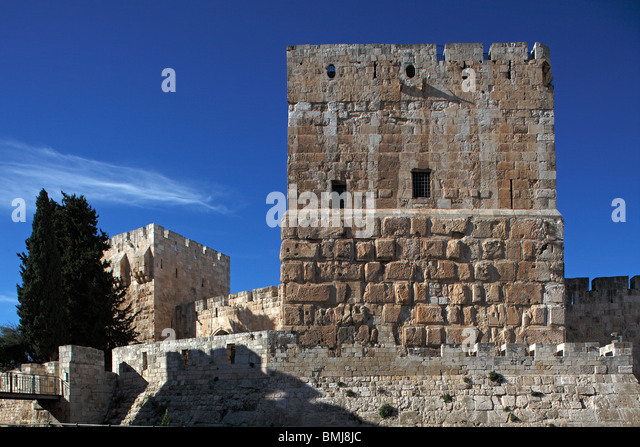 Israel,Jerusalem,Old city,Citadel,David's Tower - Stock Image
