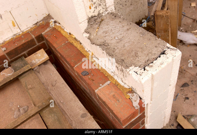 Cavity brick block wall insulation stock photos cavity for Rock wall insulation