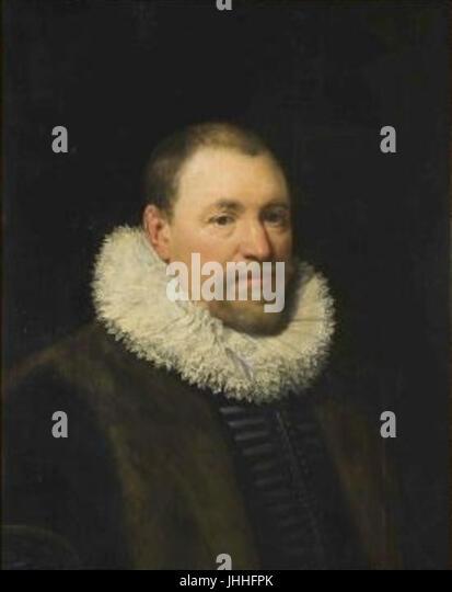 Jan Anthonisz van Ravesteyn kol.1570-1657 - Podobizna soudce Nicolaese Cromhouta 1561-1564 - Stock Image
