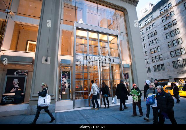 Bulgari jewelry stock photos bulgari jewelry stock for Jewelry stores in new york ny