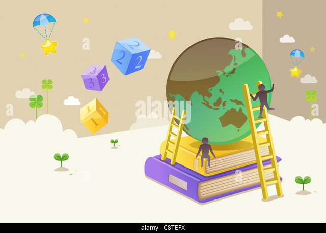 Concept of education and knowledge - Stock Image