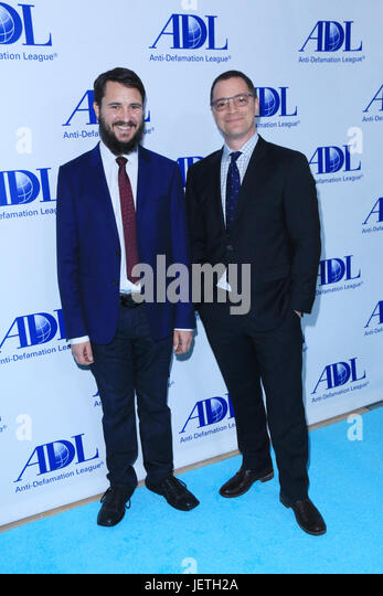 Anti-Defamation League entertainment industry dinner honoring Bill Prady - Arrivals  Featuring: Wil Wheaton, Joshua - Stock-Bilder