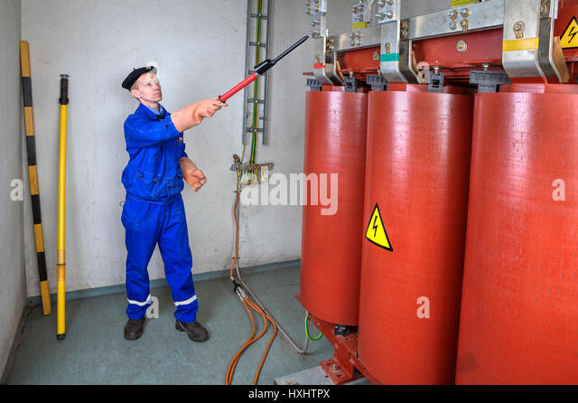 High Voltage Grounding Stick : Earthing rod stock photos images alamy
