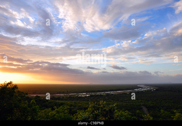 Viewpoint, Gonarezhou National Park , Zimbabwe - Stock Image