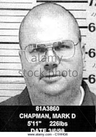 Mark David Chapman Mugshot - Stock-Bilder