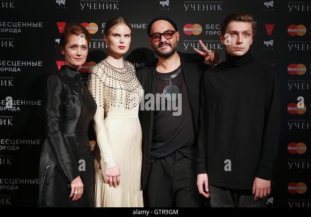 Moscow, Russia. 7th Sep, 2016. Russian actresses Viktoriya Isakova, Aleksandra Revenko, film director Kirill Serebrennikov, - Stock-Bilder
