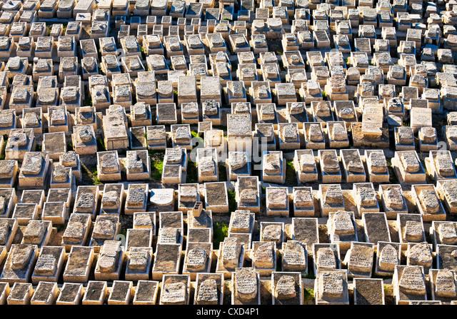 Jewish cemetery, Mount of Olives, Jerusalem, Israel, Middle East - Stock-Bilder