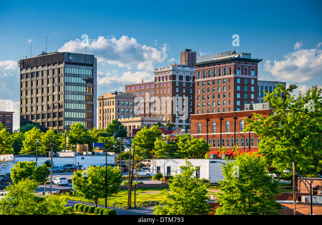 Greenville, South Carolina, USA downtown buildings. - Stock-Bilder