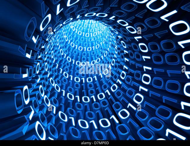 Digital information, artwork - Stock Image