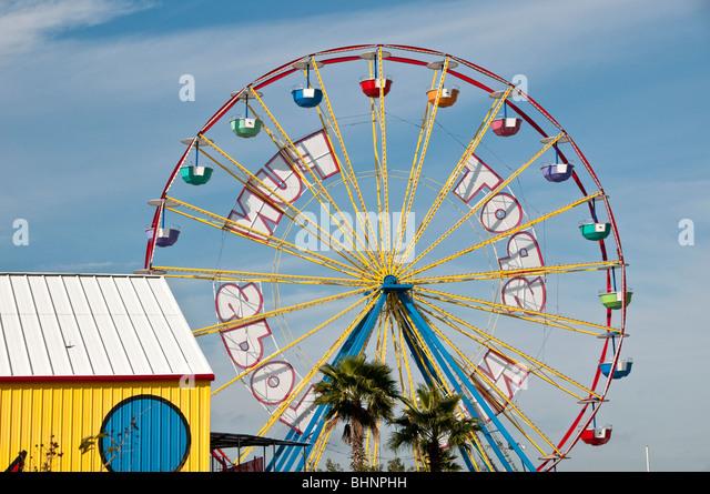 Ferris wheel International Drive Orlando FL Florida amusement park Fun Spot Action Park - Stock Image