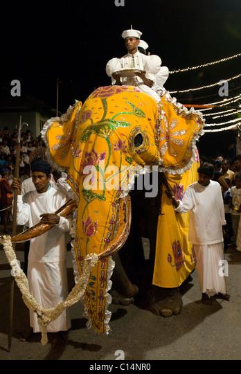 Buddhist Parade, Colombo, Sri Lanka - Stock Image