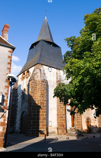 Chaillac church, Indre, France. - Stock Image