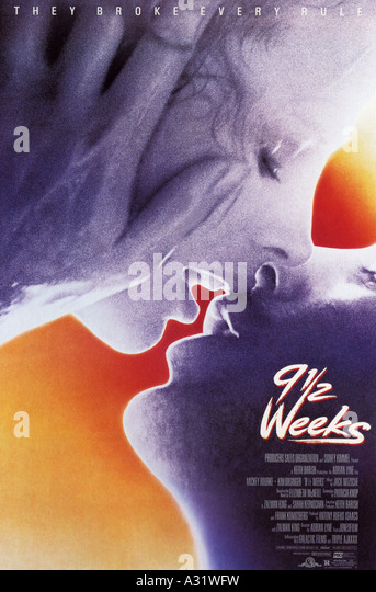 NINE AND A HALF WEEKS poster for 1986 MGM/UA film with Mickey Rourke and Kim Bassinger - Stock Image