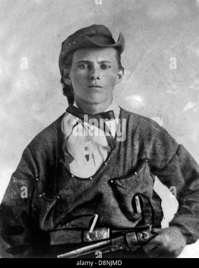 Jesse James as a young man - Stock-Bilder