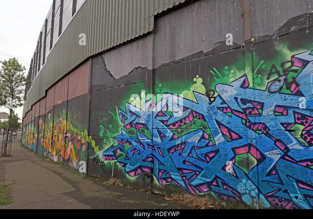 Grafitti, International Peace Wall,Cupar Way,West Belfast, Northern Ireland, UK - Stock Image