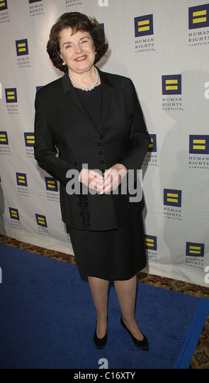 Dianne Feinstein Human Rights Campaign's annual gala and hero awards held at the Hyatt Regency plaza hotel Los - Stock Image