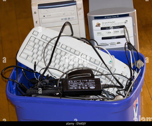 Eco waste of electronics - Stock Image