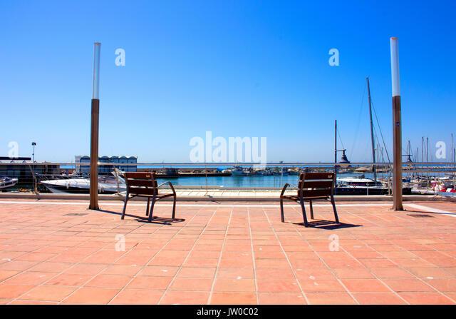 Port. Estepona city, Costa del Sol, Andalusia, Spain. 24 july 2017. - Stock Image