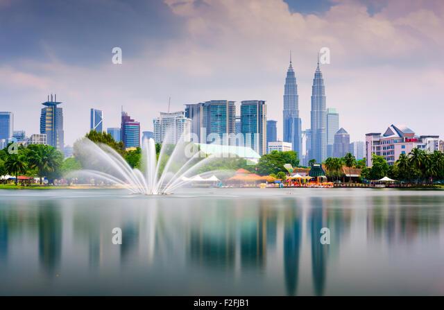 Kuala Lumpur, Malaysia skyline at Titiwangsa Park. - Stock Image