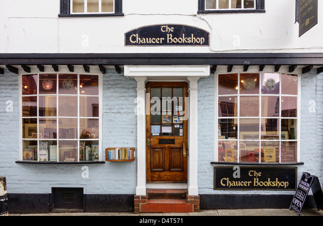 The Chaucer Bookshop Beer Cart Lane Canterbury Kent - Stock Image