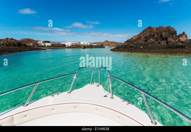 El Puertito, La Isla de Lobos, Fuerteventura, Canary Islands, Spain. - Stock Image