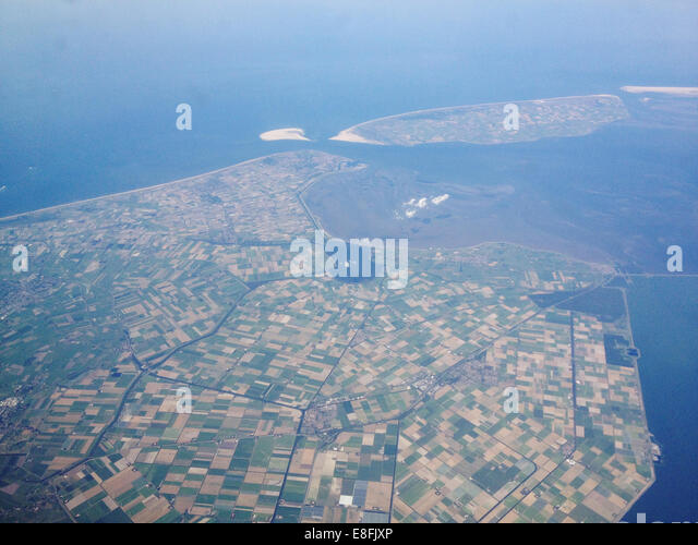 Agricultural land from above - Stock Image