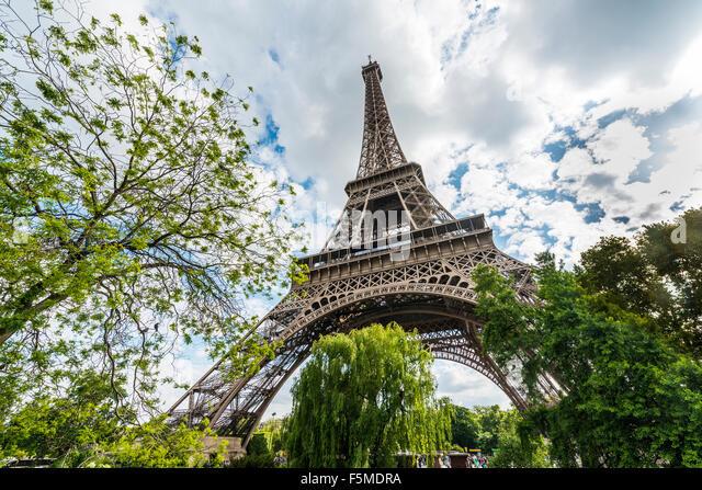 Eiffel Tower, tour Eiffel, Paris, Ile-de-France, France - Stock Image