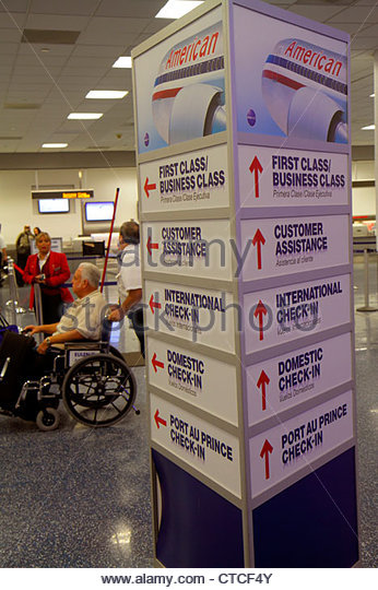Miami Florida Miami International Airport MIA terminal disabled - Stock Image