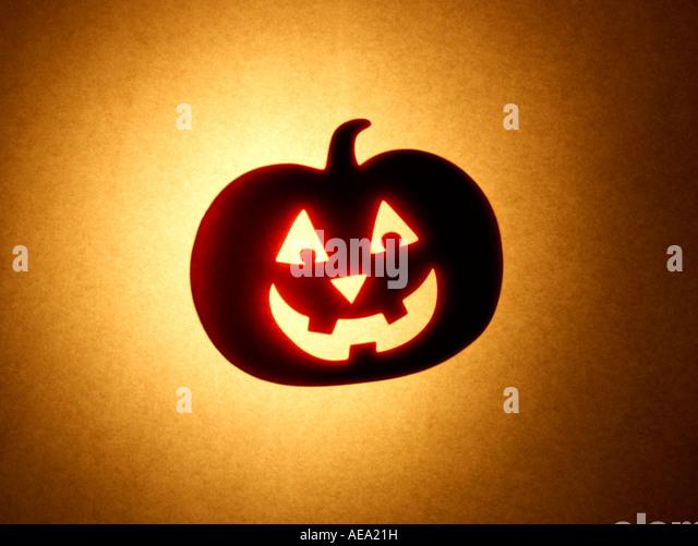 Jack o lantern Pumpkin - Stock Image
