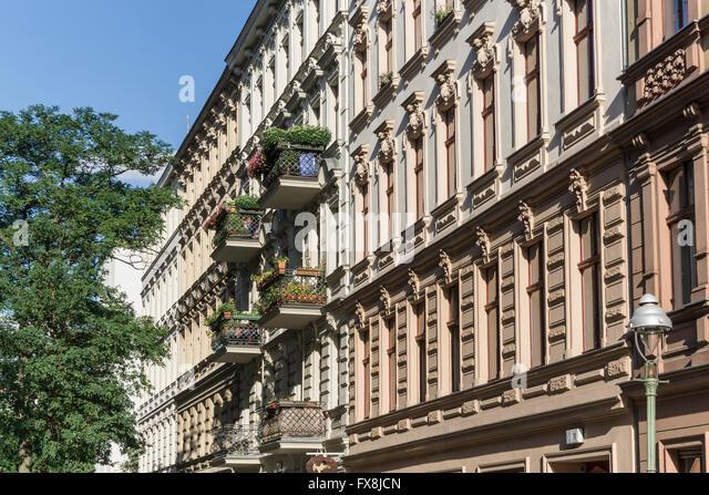 Facade, Wilhelminian Style Architecture,  Seelingstrasse, Charlottenburg, Berlin - Stock Image