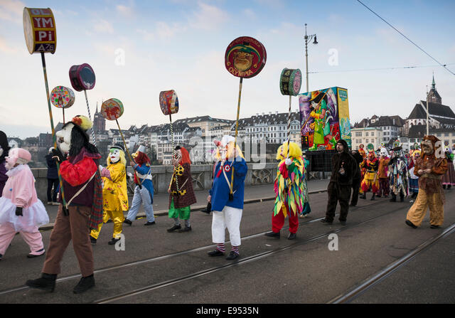Morgenstraich carnival parade, Basel, Switzerland - Stock Image