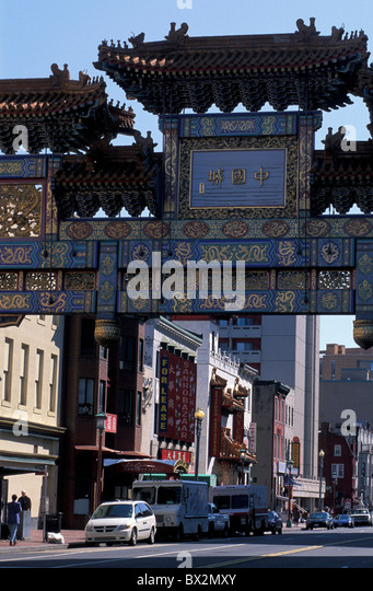 Chinatown Downtown Washington D.C. USA America North America - Stock Image