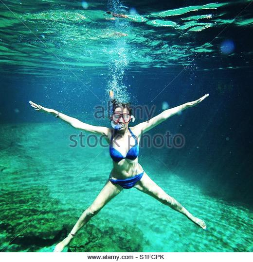 Snorkelling in Mexico - Stock-Bilder