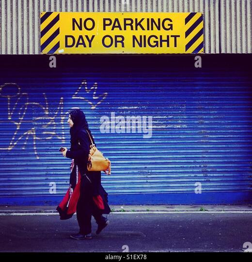 No Parking, Bradford , West Yorkshire, Uk - Stock-Bilder