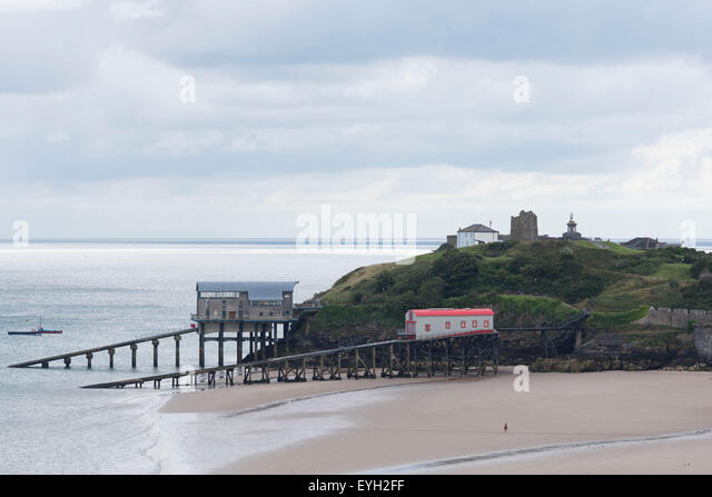 RNLI Tenby Lifeboat Station in Tenby, west Wales. - Stock Image
