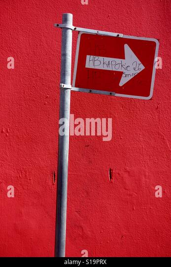 Sign on street in Cape Town - Stock-Bilder
