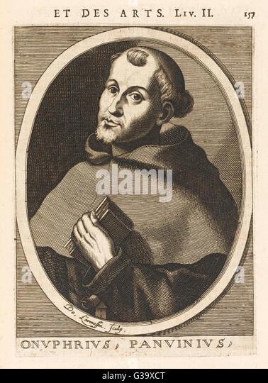 ONOFRIO PANVINIO  Italian antiquarian and historian       Date: 1529 - 1568 - Stock-Bilder
