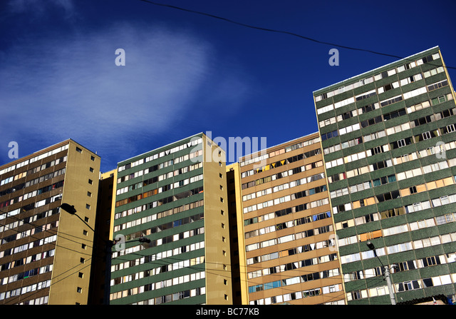 Skyscraper on La Candelaria Neighborhood in Bogota Colombia - Stock Image