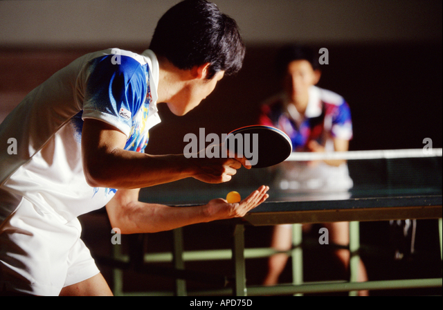Sport Racket Sports Ping Pong Table Tennis - Stock Image