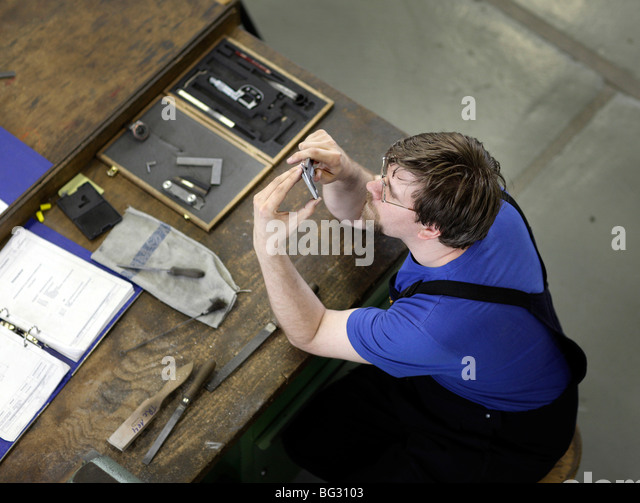 Trainee as a electronic technician at TRAINICO . Wildau , - Stock Image