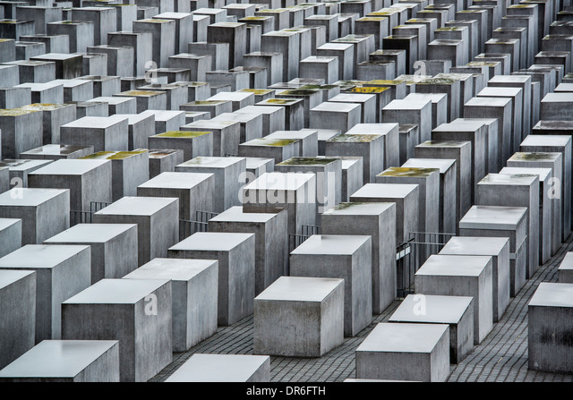 Holocaust Memorial in Berlin, Germany. - Stock Image