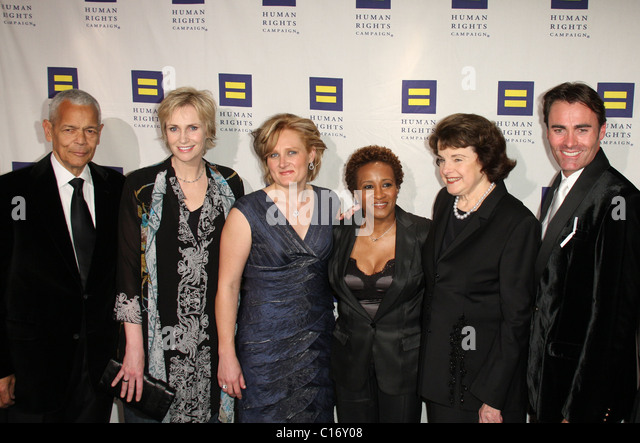Julian Bond, Jane Lynch, Kelsey Bray, Wanda Sykes, US Senator Dianne Feinstein,  Parker Williams Human Rights Campaign's - Stock Image