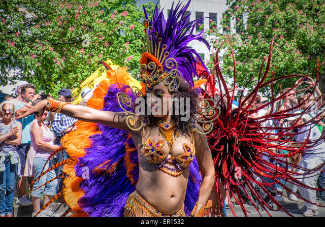 Kreuzberg, Berlin, Germany, 24th May 2015. Berlin celebrates its cultural diversity at  the Carnival of Cultures - Stock-Bilder