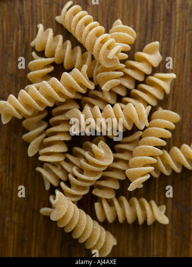 Wholewheat pasta fusilli - high end Hasselblad 61mb digital image - Stock Image