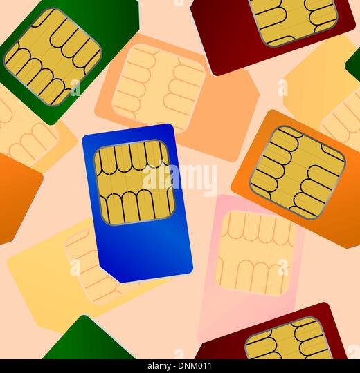 Sim card. Seamless wallpaper. - Stock Image