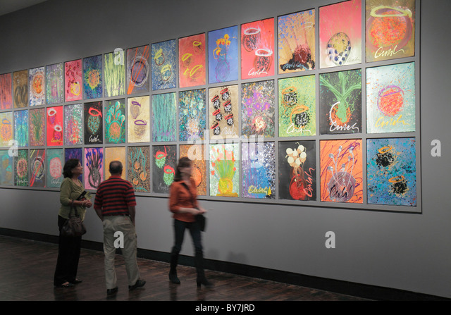 Nashville Tennessee Frist Center for the Visual Arts museum art gallery exhibition Dale Chihuly drawing painting - Stock Image