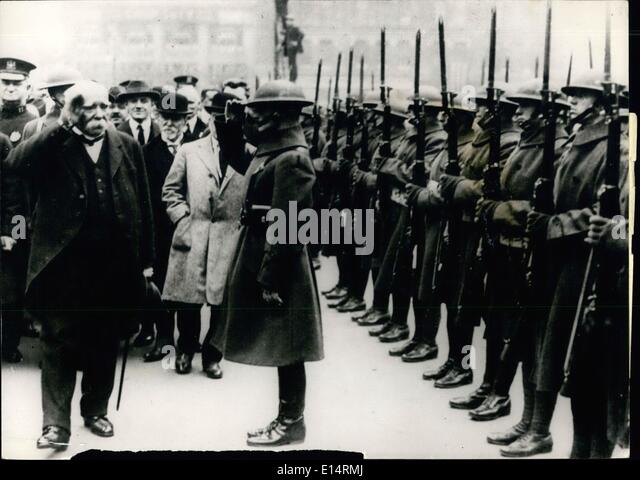 Apr. 18, 2012 - Georges, Clemenceau taking pay in the Victory Celebrations in New York 1918 War.  Pict - Stock Image